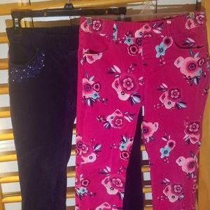 2 pair Gymbo Pull-on Corduroy Pants 12 Jeggings